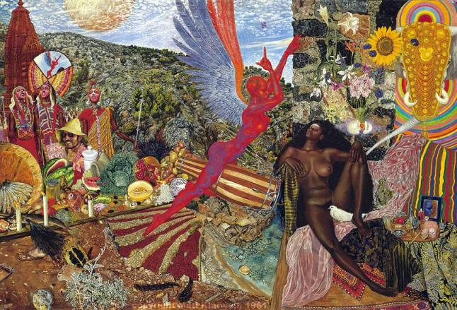 Abraxas-album-cover-Annunciation-by-Mati-Klarwein21961